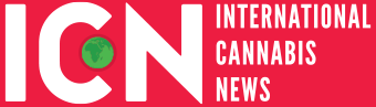Logo for International Cannabis News,  in collaboration with Beun en Haas visuals.