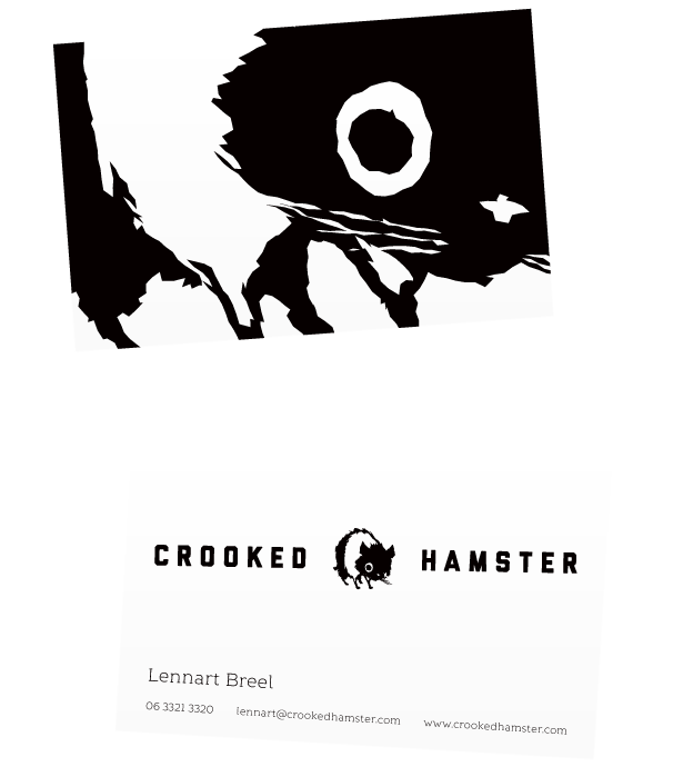 Business Cards for Crooked Hamster.