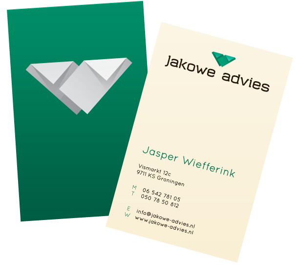 Business cards for Jakowe Advies.