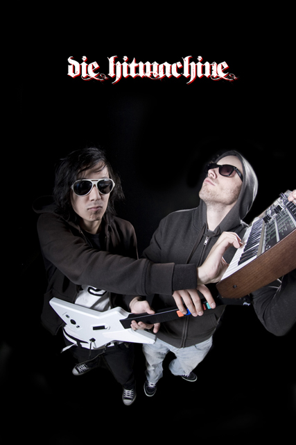 Photoshoot for the band Die Hitmachine.