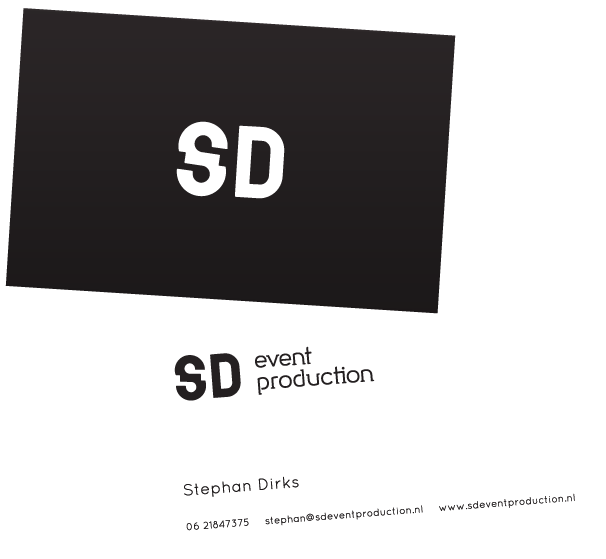 Business cards for SD Event Production.